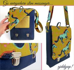 Slim Mustang Messenger Bag with Tuck Locks   Sew4Home