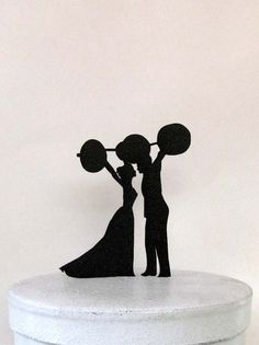 Wedding Cake Topper - Weightlifting, crossfitters wedding seriously screams my fiancé FOR HIS GROOMSCAKE
