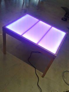Fabriquer votre table lumineuse table lumineuse pinterest tables - Fabriquer une table lumineuse led ...