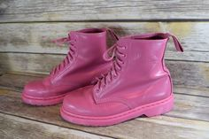 SOLD OUT Dr. Doc Martens Solid Smooth PINK ROSE Women's Boots 8 Eye Lace. US 9 | Clothing, Shoes & Accessories, Women's Shoes, Boots | eBay!