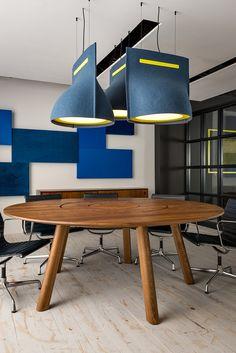 Contemporary style direct light LED fabric pendant lamp BUZZIBELL - BuzziSpace