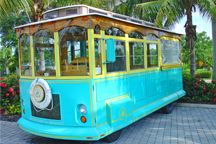 Adventures in Paradise trolly that takes yout to Port Sanible for your Adventure in Paradise.  Highly recommended shelling trip with a lunch at Barnical Phil's.  Sea life excersion is great for kids.