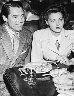 Cary Grant and Ava Gardner