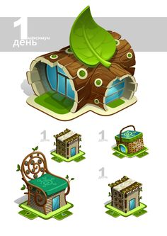 строения, домики, игры by Pavel Pro, via Behance ★ Find more at http://www.pinterest.com/competing/