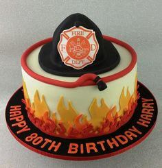Firefighter, Fireman, Fire, cake
