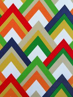 RESORT GARDEN (Outdoor Fabric) #chevrons #multi-colored #outdoor #patterns #print-fabrics