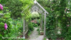 Arbor walkway in the rose garden