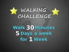 The challenge for this month involves what may be the most underrated form of exercise--walking. Walking is a great way to improve your overall fitness and