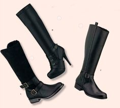 Botas Andrea en color negro para el otoño. Botas de taco plano y botas de tacon. #iLovePS #style #chic #fashion #fashionable #fashionista #happy #must #sexy #shoes #sandals #spring #black