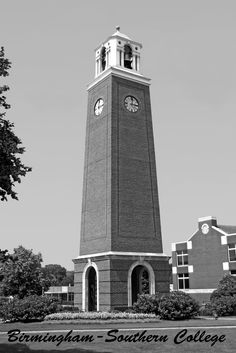 Edwards Bell Tower, erected in 1999. This postcard is from 2013. Photo: Ross Callaway