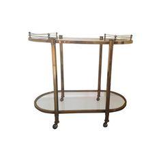 Brass Art Deco Bar Cart
