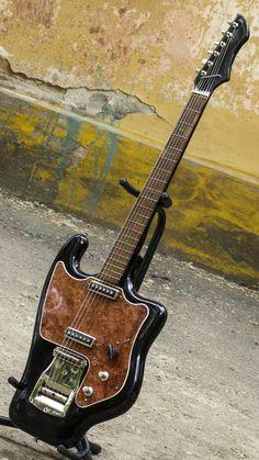 Tonika Rostov Soviet Vintage Legend RARE Electric Guitar from USSR Black 70s #oneofakind #electric #guitar
