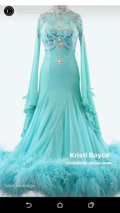 Chrisanne clover turquoise ballroom dance standard dress