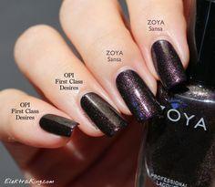 Zoya Sansa vs OPI First Class Desires