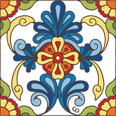 Tile Blue Connectable Talavera Design Decorative Art Tile is hand painted and hard fired at over 1800 degrees making it ready for use indoors or outdoors Tile Murals, Tile Art, Tiles, Home Confort, Decorative Tile, Tile Patterns, Floral Patterns, Ceramic Art, Bunt