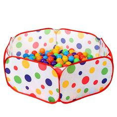 Baby Ball Pool Foldable Kids Popup Pit Balls Pool for Children Indoor and Outdoor (35 18 11 Inch) by CASA MALL. Please NOTE: Balls are NOT included. This toy is suitable for children 4 months - 3 years old. Give your kids an independent space without too much help, improve the independent ability. Quick and Easy Setup and Fold-Pop-up for easy and quick assemble with its twist technology. Great fun for children or pets, Wonderful items to your friends.