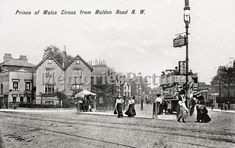 Prince of Wales Road from Malden Road looking south towards Ferdinand Street. Camden London, North London, Old London, London History, Barnet, Prince Of Wales, Old Photos, Street View, Junction Road