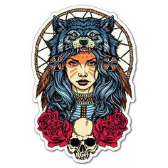 Illustration about Native American girl with Wolf headdress full color Native American girl with Wolf headdress full color. Illustration of catcher, halloween, culture - 77167860 Wolf Headdress, Headdress Tattoo, Tattoo Girls, Girl Tattoos, Tattoos For Guys, Native American Girls, Girl Sleeves, Sleeve Tattoos For Women, Wolf Tattoos