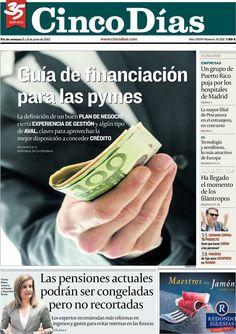 Los Titulares y Portadas de Noticias Destacadas Españolas del 8 de Junio de 2013 del Diario Cinco Días ¿Que le parecio esta Portada de este Diario Español?