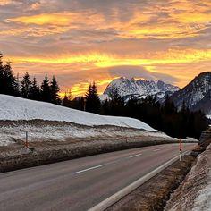 Sonnenuntergang in Waidring – Bild des Monats im Februar 2019 Wilder Kaiser, Mountains, Nature, Blog, Travel, February, Embellishments, Sunset, Heaven
