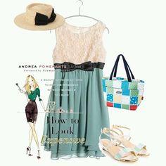 #dress #hat #pumps #tote #mint #polyvore #tgc #fw #fw16 #collection #coordinate #outfit #pintarest #mao_pak #o_range o(^-^o)(o^-^)o