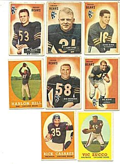 """1950's Chicago Bears Football CardsSports Fan's: The Highly Anticipated Sports Book, """"Walk-On U"""" by Tim Lavin, will Launch August 26, 2013. As a College Football Walk-On at USC, Tim Lavin takes us on his Journey and Shares Inspirational Stories of Underdogs who Have Proven their Talents Both On and Off The Field. #walkonu,#walkon,#walkons http://www.walk-onu.com"""