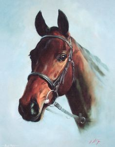 Best Mate Portrait Limited Edition Horse Racing Print by Equestrian Artist Jacqueline Stanhope