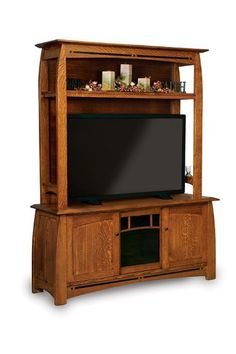 Amish Boulder Creek Hutch Entertainment Center