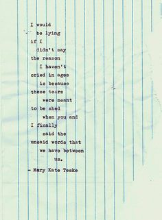 Typewriter poem #29 | Mary Kate Teske