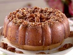 """Here's a SPECIAL Cake for the Holiday - It uses Bacardi Gold Rum in BOTH the cake and Glaze ♥♥ Also. it calls for Duncan Hines Moist Deluxe Yellow cake mix . """"Rum Cake - Semi-Homemaker Recipe"""" from Semi-Homemade Cooking via Food Network ♥♥♥ Cake Recipe Food Network, Food Network Recipes, Cooking Recipes, Food Cakes, Cupcake Cakes, Bundt Cakes, Hot Buttered Rum, Betty Crocker, Bacardi Rum Cake"""