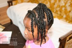 Back-to-School Twisted Up-Do | Chocolate Hair / Vanilla Care