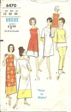 Vintage Sewing Patterns Beach Dress Blouse Pants by TenderLane, $12.00