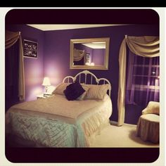 My Bedroom: I love purple and gold together !