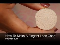 How To Make A Elegant Lace Cane Beginner Polymer Clay Tutorial Polymer Clay Ornaments, Sculpey Clay, Polymer Clay Canes, Polymer Clay Flowers, Polymer Clay Necklace, Polymer Clay Projects, Handmade Polymer Clay, Resin Jewelry Making, Clay Baby