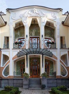 Built near the River Volga, Moscow, Russia, completed in 2009! Art Nouveau facade, doors and windows