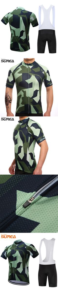 SUREA 2017 Summer Short Sleeve Cycling Set Mountain Bike Clothing Breathable Bicycle Jersesy Clothes Maillot Ropa Ciclismo