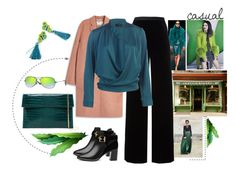 """""""Casual green tassels"""" by ussiek on Polyvore featuring moda, Fulton, WALL, Acne Studios, T By Alexander Wang, Ted Baker, Urban Expressions i Ray-Ban Fulton, Acne Studios, Alexander Wang, Ted Baker, Tassels, Ray Bans, Urban, Wall, Casual"""