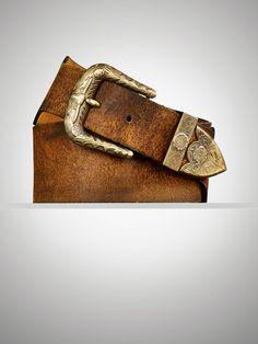 Engraved-Western-Buckle Belt - Belts  Women - RalphLauren.com