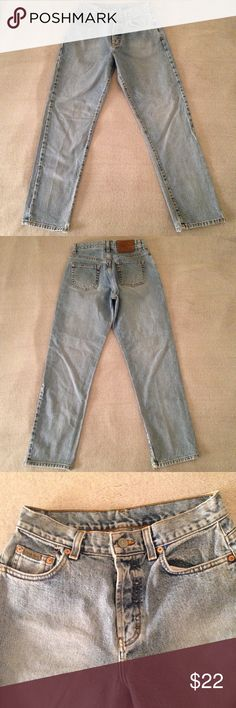 "Vintage CK High Waist Jeans Cute vintage high waisted mom jeans with only a few minor details. The bottom of denim has small rips as seen in pictures 4 & 5. Also, the tag has a few scratches on it (pic 7). Waist laying flat is 13"". Rise 10 7/8"" Calvin Klein Jeans Straight Leg"