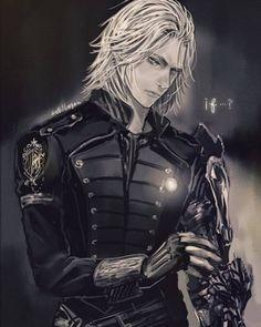 Ravus ~ Graynox ~ Fleuret Final Fantasy Xv, Final Fantasy Artwork, Fantasy Series, Cg Artwork, Noctis, Bishounen, Fan Art, Pretty Drawings, Anime Guys