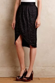 Anthropologie Constance Wrap Skirt