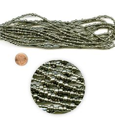 Blue Moon Beads Seed Bead Hank Metallic Silver, Multi-Sizes