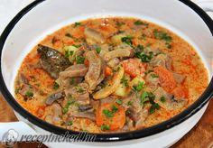 Érdekel a receptje? Kattints a képre! Küldte: KGizi Hungarian Recipes, Meat Recipes, Thai Red Curry, Food And Drink, Soup, Beef, Ethnic Recipes, Meat, Soups