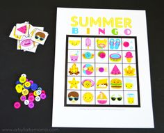 Free Printable Summer Bingo at artsyfartsymama.com #summer #freeprintable #printable #bingo