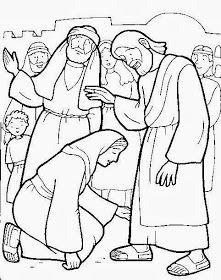 Marcos 5 25 34 Has Estado Alguna Vez Enfermo A Cuantos Dias Duro Tu Enfermedad Como Te Sentis Jesus Sana Paginas Para Colorear De Biblia Milagros De Jesus
