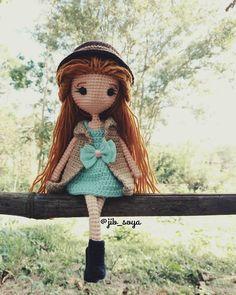กว่าจะได้แต่ละรูปนี่เหงื่อแตก#amigurumi #crochet #handmade #gift #girl #jibsoya