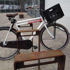 STREETLIFE CorTen Bicycle Racks. These thick-walled weathering resistant steel Bike Racks have a minimalist design