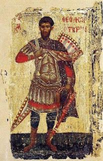 Theodore Tyro, wooden icon at Patmos Monastery dated Byzantine Army, Christian Warrior, Paint Icon, Orthodox Icons, Sacred Art, Ancient Romans, Roman Empire, Graphic Design Inspiration, Art Google