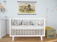 The Sparrow crib in Baby Roman's nursery, designed by Holly Becker from Elkins Elkins Elkins Becker Kids Room Design, Nursery Design, Creative Kids Rooms, Dream Kids, Nursery Inspiration, Nursery Ideas, Interior Inspiration, White Nursery, Baby Time
