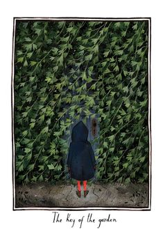 """The Key of the Garden"" illustration by Júlia Sardà for ""The Secret Garden"" by Frances Hodgeson Burnett"